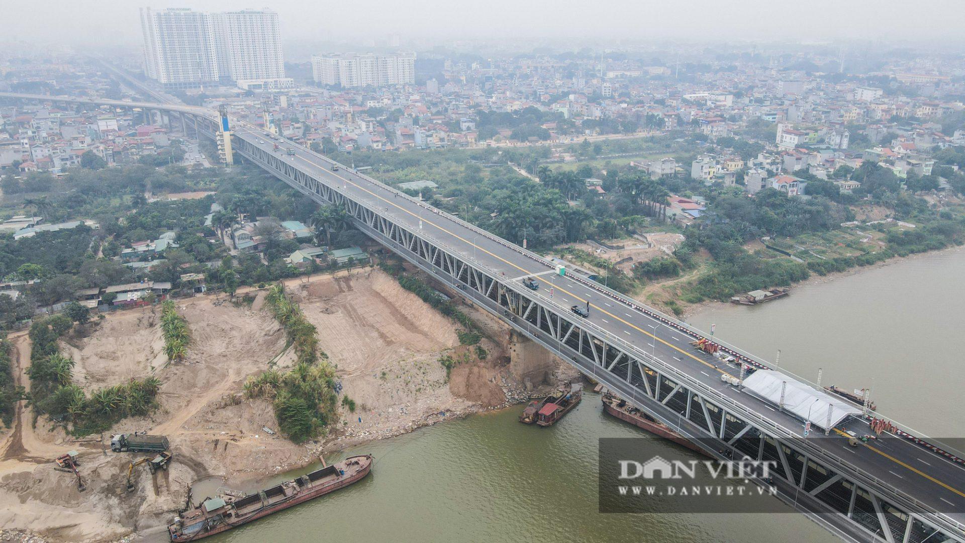 Diện mạo mới toanh của cầu Thăng Long sau 150 ngày sửa chữa - Ảnh 4.